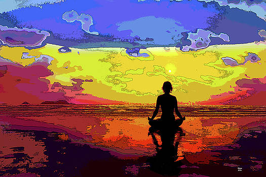 Yoga At Sunset by Charles Shoup