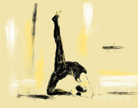 Yoga Bridge Pose by Go Van Kampen