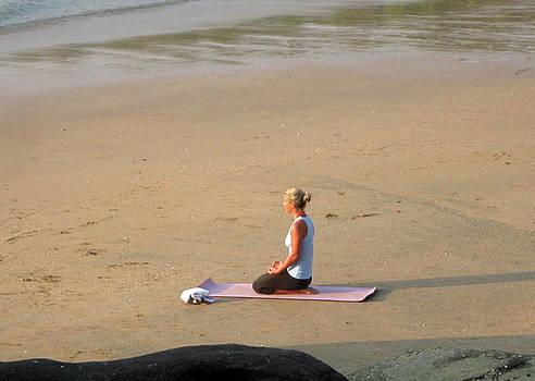 Yoga on Beach by Umesh U V