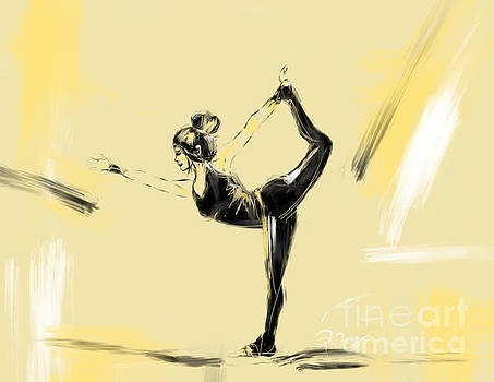 Yoga pose Lord of the dance by Go Van Kampen