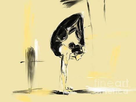 Yoga pose Lotust Scorpion by Go Van Kampen