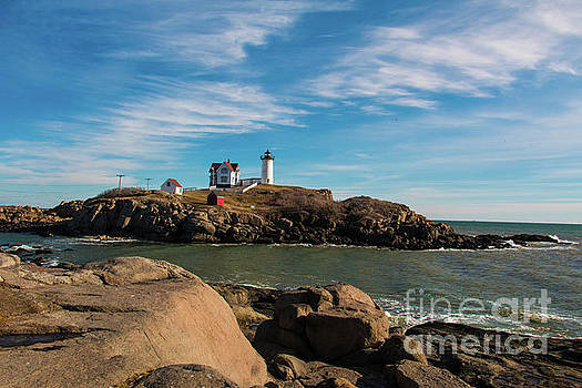 York Maine Lighthouse The Nubble by Mim White