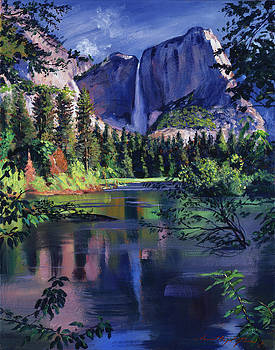 Yosemite Falls by David Lloyd Glover