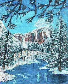 Yosemite In Winter by Carolyn Donnell
