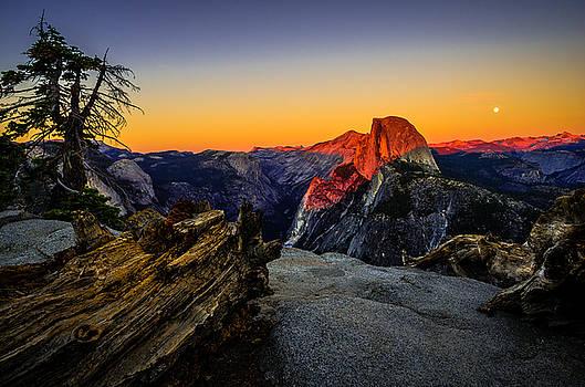 Yosemite National Park Glacier Point Half Dome Sunset by Scott McGuire