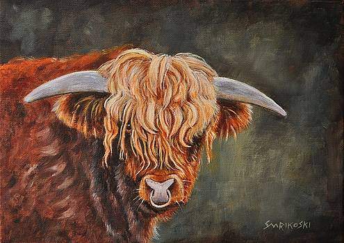 Young Highland Bull - Gilleasbuig 1st of Balmoral by Louise Charles-Saarikoski