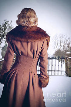 Young Woman Wearing Coat by Amanda And Christopher Elwell