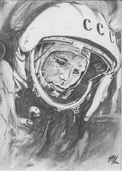 Yuri Gagarin by Maya Lewis
