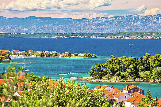 Zadar islands archipelago and Velebit mountain view by Dalibor Brlek