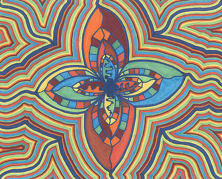 Zany Flower by Jill Lenzmeier