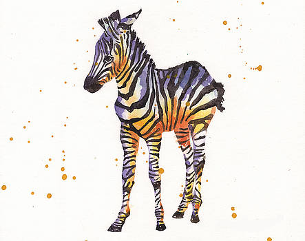 Zebra Painting by Alison Fennell