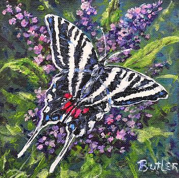 Zebra Swallowtail by Gail Butler