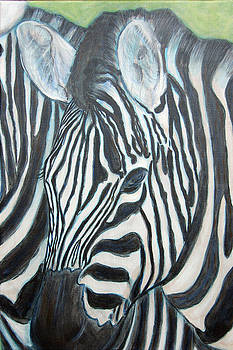 Zebra Triptych 2 by Isabelle Ehly
