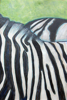 Zebra Triptych 3 by Isabelle Ehly