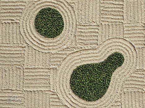 Zen Garden - Warm Colors  by Lori Grimmett