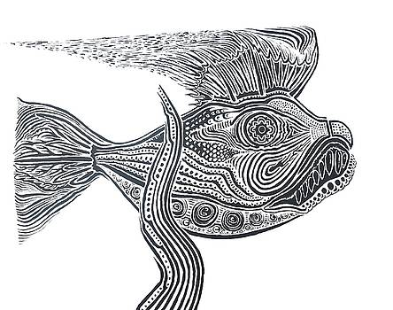 Zentangle Fish by Steve  Hester