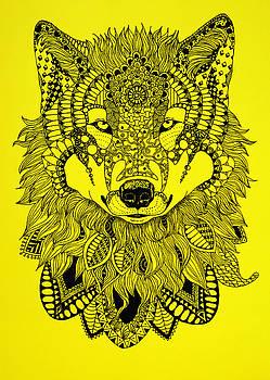 Zentangle wolf by Bernadett Kovacs