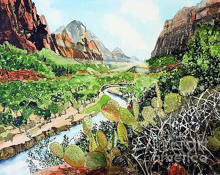 Zion and The Virgin River by Tom Riggs