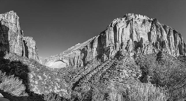 James BO  Insogna - Zion National Park Panorama Black and White