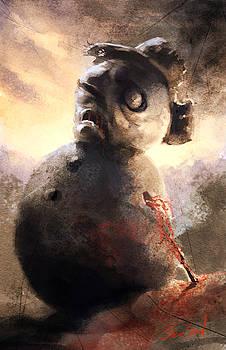 Zombie Snowman by Sean Seal