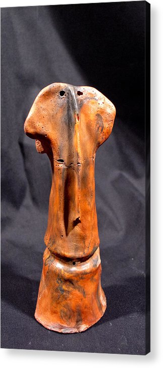 Concrete Acrylic Print featuring the sculpture Foresti Fire by Mark M Mellon