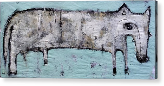 Animals Acrylic Print featuring the painting Lupus by Mark M Mellon
