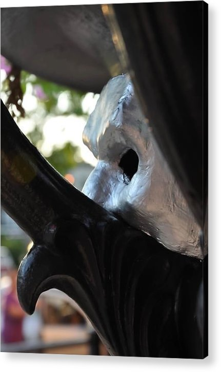 Urban Landscape Acrylic Print featuring the sculpture Men Of Iron by Ryan Grifford