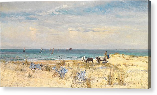 Boat Acrylic Print featuring the painting Harvesting The Land And The Sea by William Lionel Wyllie