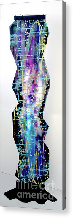 Sculpture Acrylic Print featuring the painting Nyx - Night Goddess by Mordecai Colodner