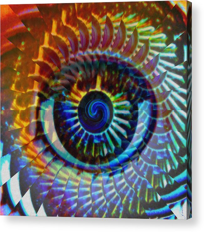 Abstract Acrylic Print featuring the photograph Visionary by Gwyn Newcombe