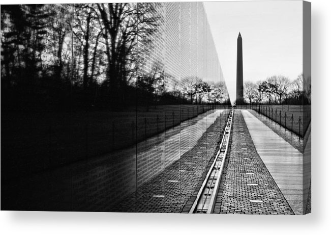 Vietnam Wall Acrylic Print featuring the photograph 58286 by JC Findley