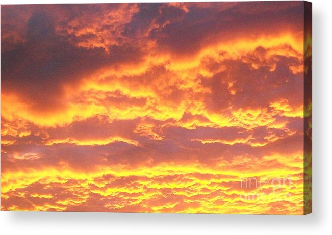 Photo Acrylic Print featuring the photograph Sun On The Clouds by Marsha Heiken