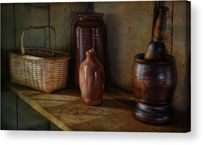 Country Acrylic Print featuring the photograph Country Cupboard by Robin-lee Vieira