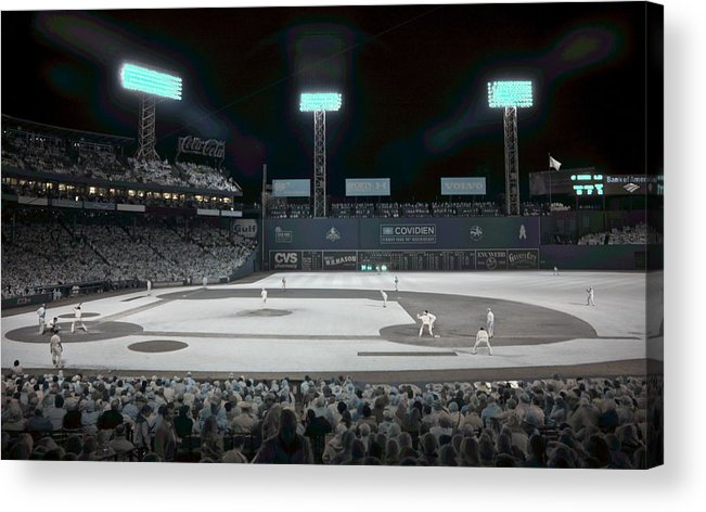 Ballpark Acrylic Print featuring the photograph Fenway Infrared by James Walsh