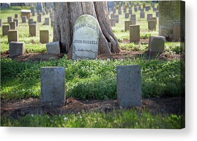 Funerary Acrylic Print featuring the photograph Frank And John by Steven Michael