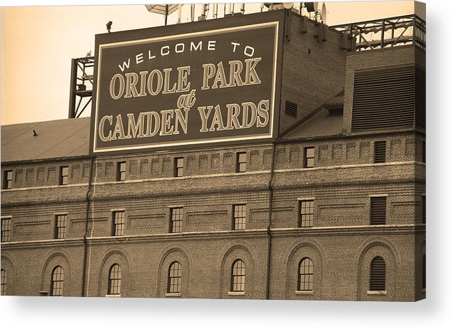 America Acrylic Print featuring the photograph Baltimore Orioles Park At Camden Yards by Frank Romeo