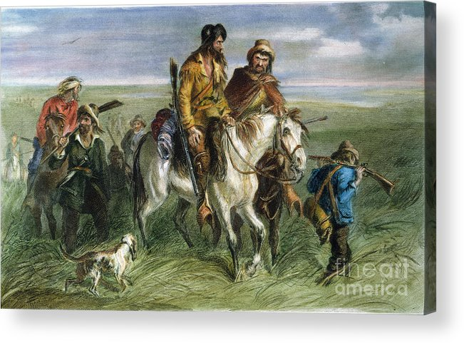 1856 Acrylic Print featuring the photograph Kansas-nebraska Act, 1856 by Granger
