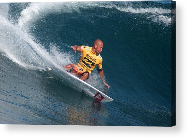 Kelly Slater Acrylic Print featuring the photograph Smooth Operator by Kevin Smith
