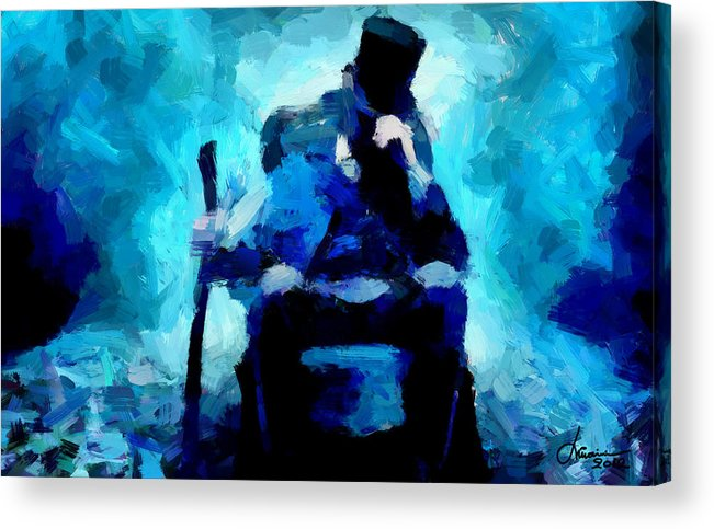 Abraham Lincoln Acrylic Print featuring the digital art Abraham Lincoln Tnm by Vincent DiNovici