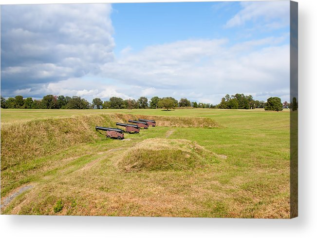 Sky Acrylic Print featuring the photograph Battle Of Yorktown Battlefield by John M Bailey