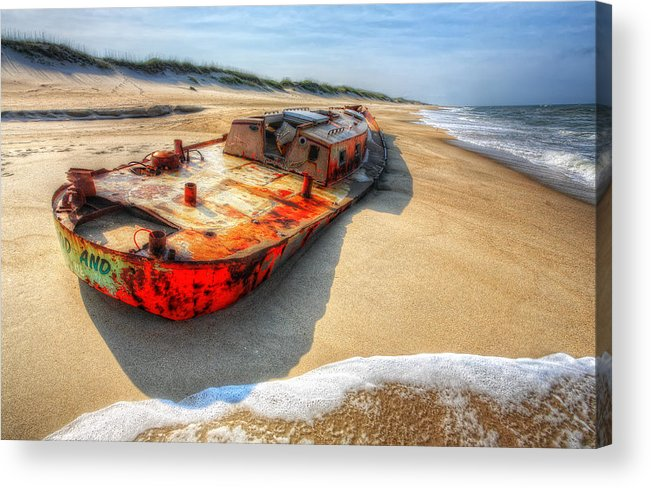 Outer Banks Acrylic Print featuring the photograph Blood And Guts I - Outer Banks by Dan Carmichael