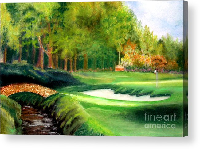 Golf Acrylic Print featuring the pastel Hole Number10 by Lamarr Kramer