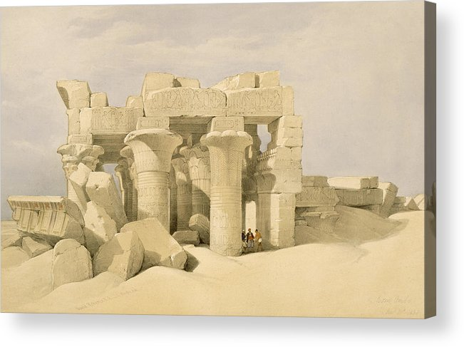 Ruins Acrylic Print featuring the painting Temple Of Sobek And Haroeris At Kom Ombo by David Roberts