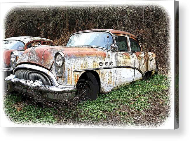 Buick Acrylic Print featuring the photograph Buick Yard by Steve McKinzie