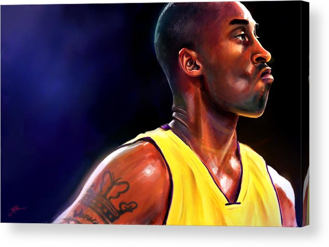 Kobe Acrylic Print featuring the digital art Daggers by Jack Perkins