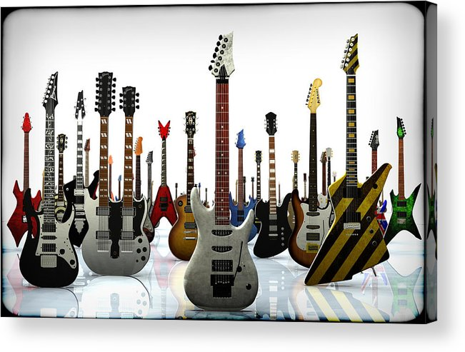 Rock N Roll Acrylic Print featuring the digital art The G Gathering by Frederico Borges