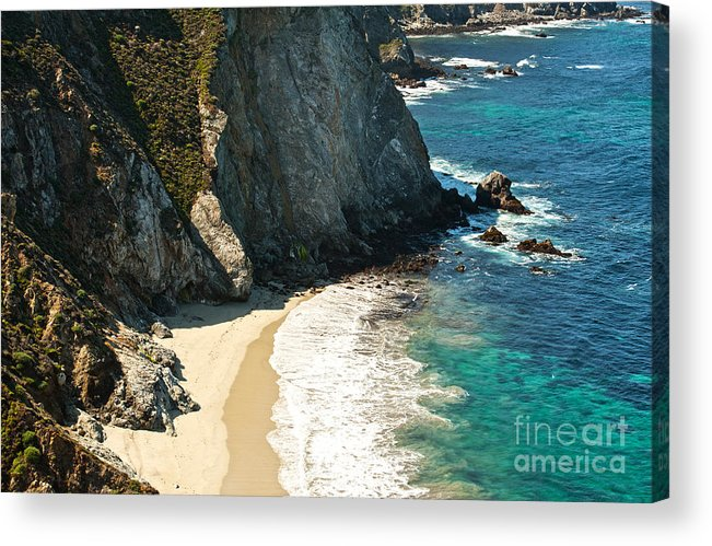 Point Lobos Acrylic Print featuring the photograph China Cove At Point Lobos State Beach by Artist and Photographer Laura Wrede