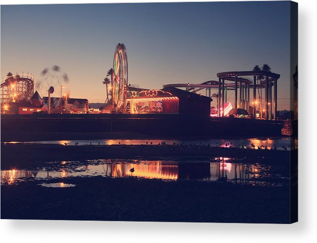 Santa Cruz Beach Boardwalk Acrylic Print featuring the photograph Fun And Games by Laurie Search