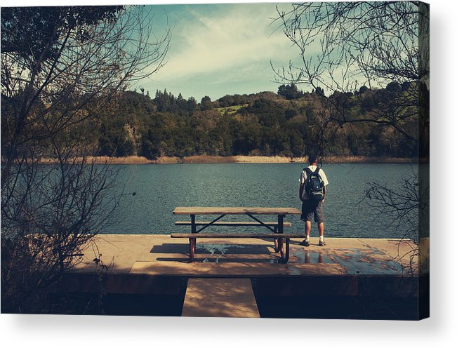 Lafayette Reservoir Recreation Area Acrylic Print featuring the photograph Remembering When by Laurie Search