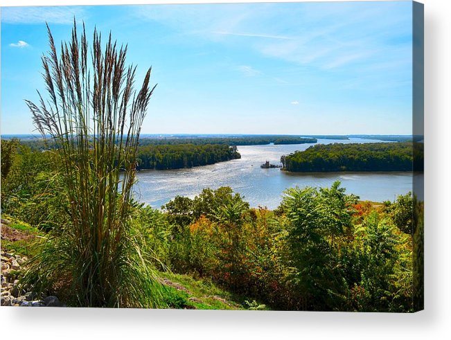 Mississippi River Scene Acrylic Print featuring the photograph The Confluence by Julie Dant